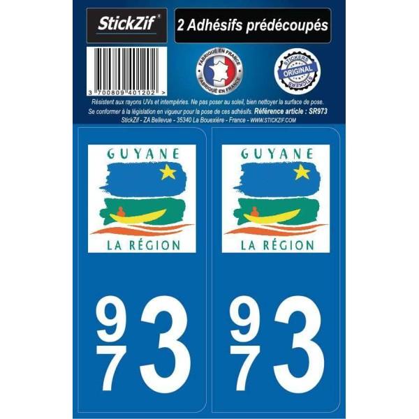 Stickers immatriculation Guyane (973)