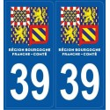 Autocollants immatriculation Jura