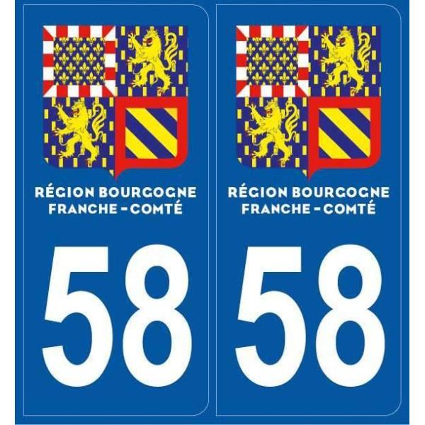 2 Stickers plaques Nièvre