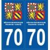 Paire Stickers autocollants Haute-Saône