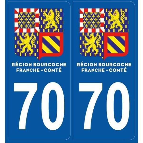 Autocollants immatriculation Haute-Saône