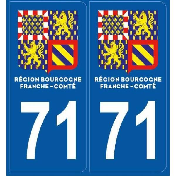 Autocollants immatriculation Saône et Loire