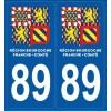 Stickers plaque Département Yonne