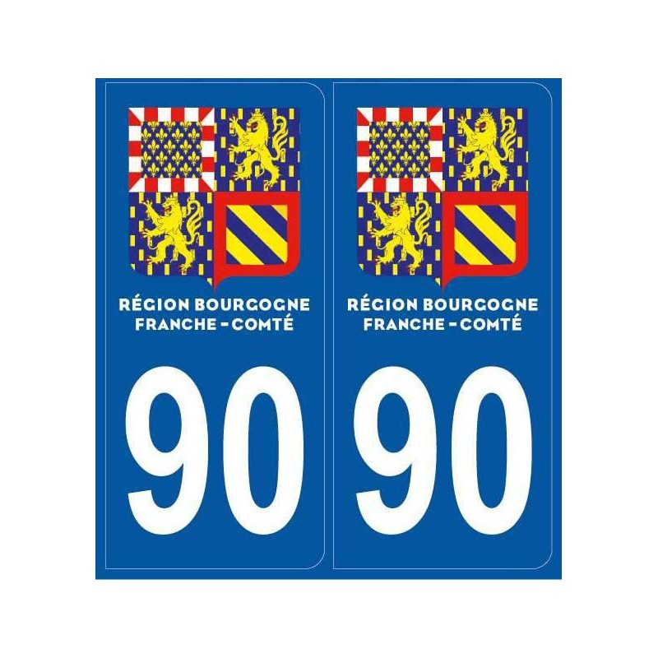 Autocollants plaque Territoire Belfort
