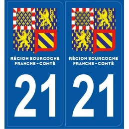 Stickers plaque Cote d' Or 21