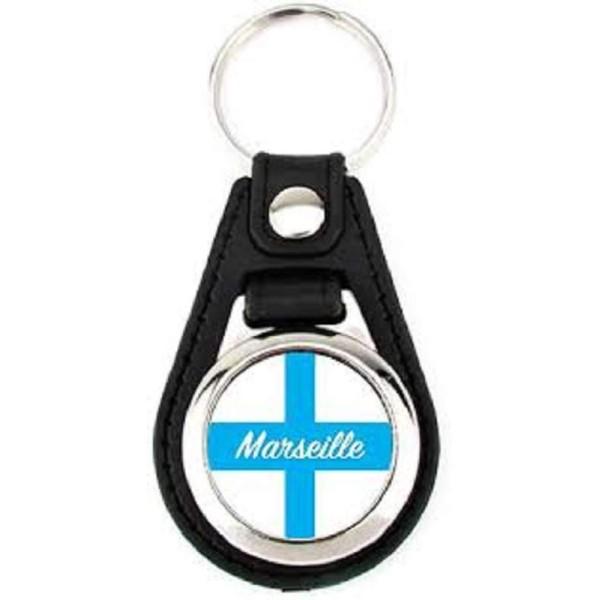 Porte-clé simili cuir Marseille