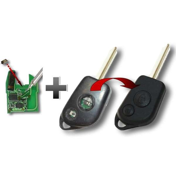 Réparation contacteurs et remplacement coque de clé lame fixe