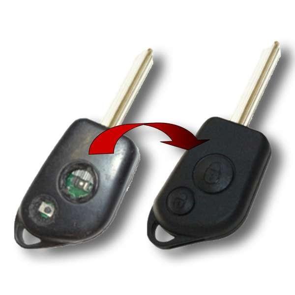 Remplacement coque de clé lame fixe