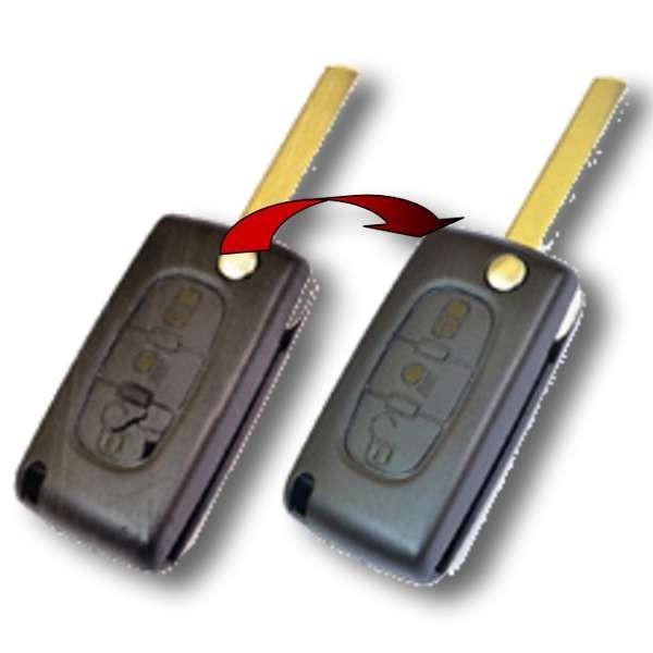 Remplacement coque de clé lame pliante