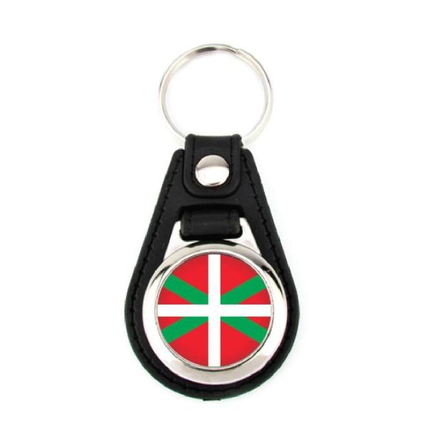 Porte-clé simili cuir Pays Basque