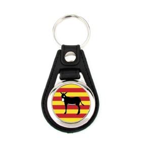 Porte-clé simili cuir Catalogne