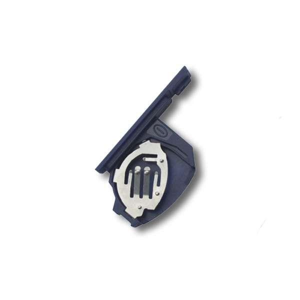 Coque clé bleue FIAT 3 boutons pile tiroir