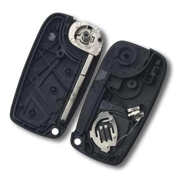 Boitier de clé FIAT 3 boutons pile tiroir