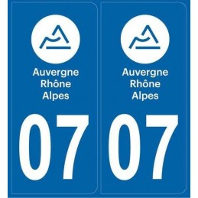 Autocollants immatriculation Ardèche 07