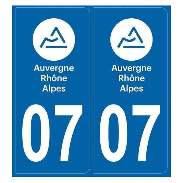 Autocollants plaque Ardèche 07