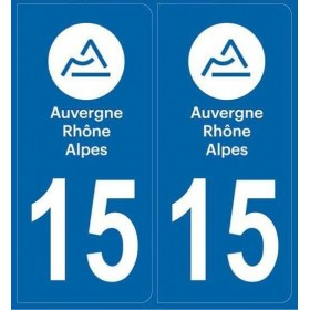Sticker plaque auto Cantal