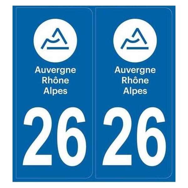 Autocollants plaque Drôme 26