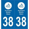 Stickers plaque Isère 38