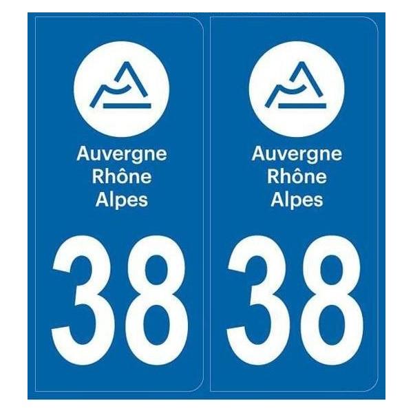 Autocollants plaque Isère 38