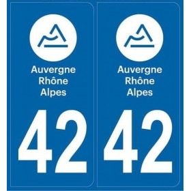 Stickers plaque Departement 42
