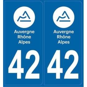 Autocollants immatriculation 42