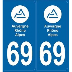 Autocollants immatriculation Rhône 69