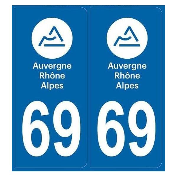 Stickers plaque Auto Rhône 69