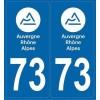 Stickers plaque Auto Savoie 73