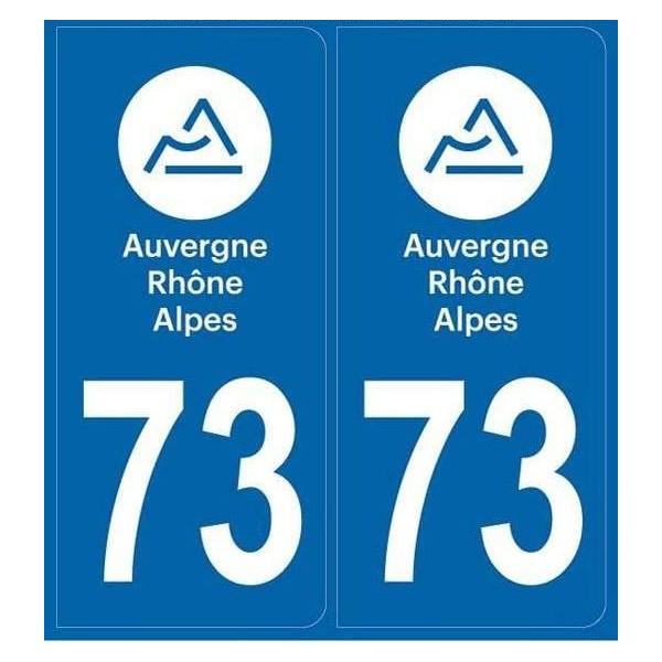 Autocollants immatriculation Savoie 73