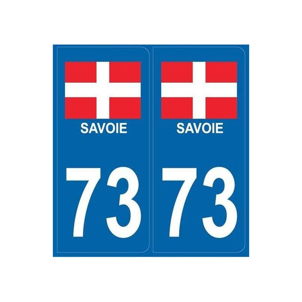 Autocollants immatriculation Blason Savoie