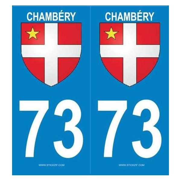 Autocollants immatriculation Blason Chambéry