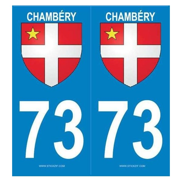Stickers plaque Chambéry Savoie