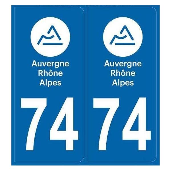Autocollants plaque département 74