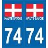 Stickers plaque Haute-Savoie