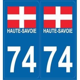 Autocollants immatriculation Haute-Savoie