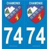 Stickers plaque Ville Chamonix
