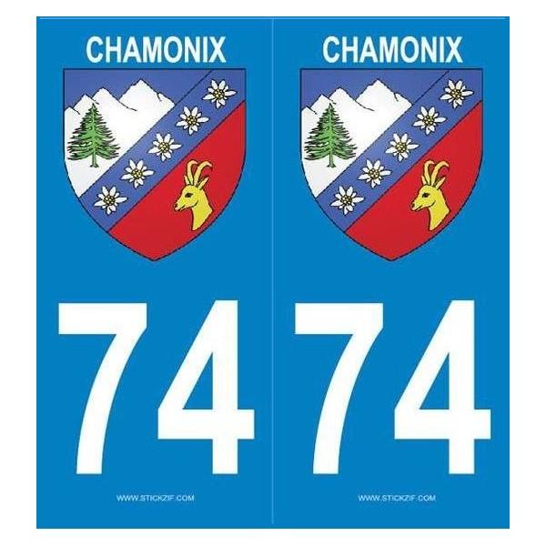 Autocollants immatriculation Blason Chamonix