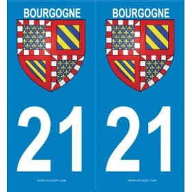 Stickers plaque blason 21