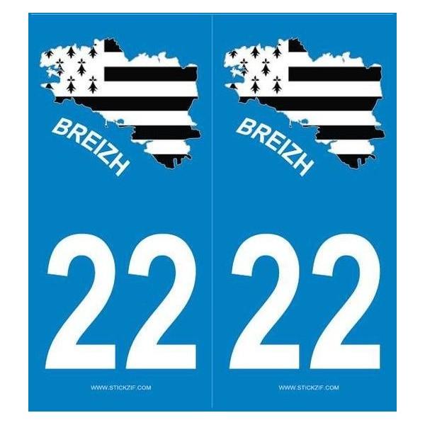 Stickers autocollants Blason Bretagne