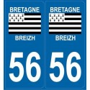 Autocollants immatriculation Morbihan