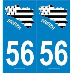 Autocollants immatriculation Bretagne
