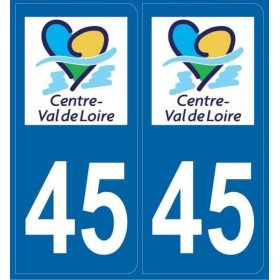 Autocollants immatriculation Loiret