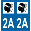 2 Autocollants département 2A