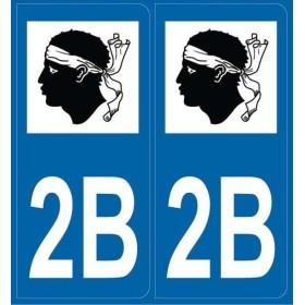 2 stickers département 2B