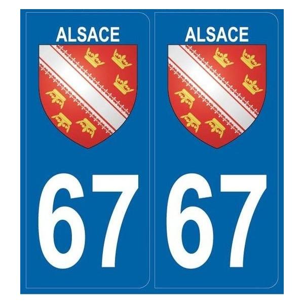 Autocollants plaques Blason Alsace