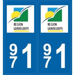 Stickers Plaque Guadeloupe (971)
