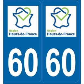 Autocollants immatriculation Oise