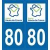 Stickers autocollants département 80