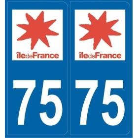 Autocollants immatriculation Paris