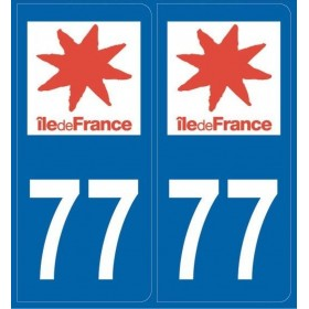 Autocollants immatriculation (77)